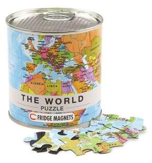 Welt Puzzle Magnets World Puzzle Magnets, 100 Teile, 23 x 33 cm