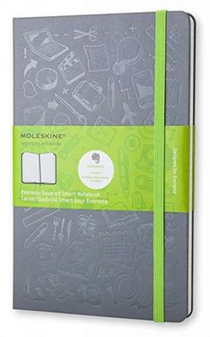 Moleskine Evernote Squared Notebook Large de MOLESKINE