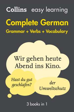 Complete German Grammar Verbs Vocabulary