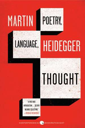 Poetry, Language, Thought de Martin Heidegger