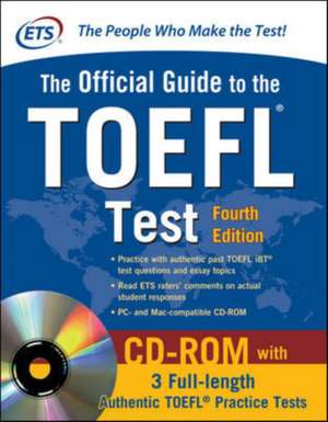 Official Guide to the TOEFL Test With CD-ROM, 4th Edition de N/A Educational Testing Service