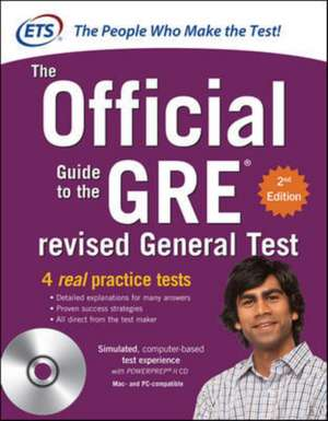 GRE The Official Guide to the Revised General Test with CD-ROM, Second Edition de N/A Educational Testing Service