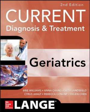 Current Diagnosis and Treatment: Geriatrics