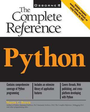 Python:  The Complete Reference de Martin Brown