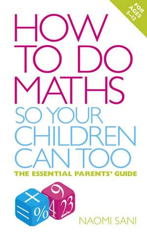 How to do Maths so Your Children Can Too imagine