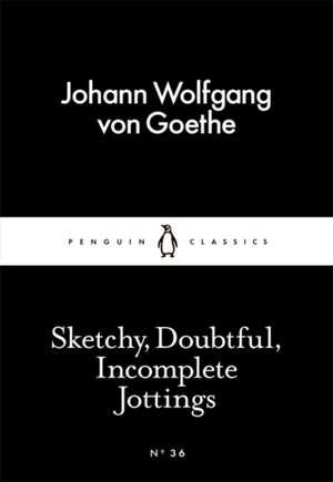 Sketchy, Doubtful, Incomplete Jottings de Johann Wolfgang von Goethe