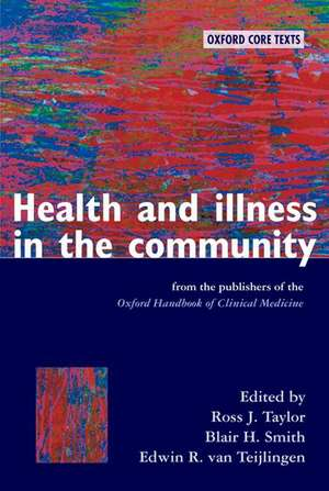 Health and Illness in the Community