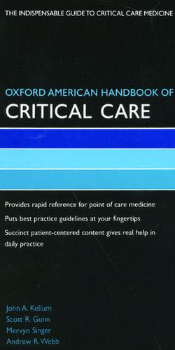 Oxford American Handbook of Critical Care de John Kellum