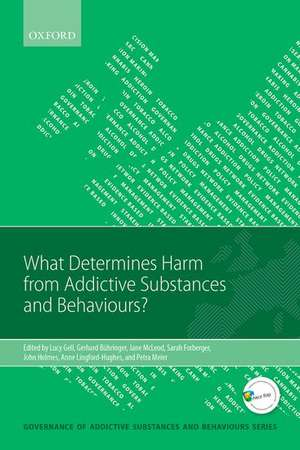 What Determines Harm from Addictive Substances and Behaviours? de Lucy Gell