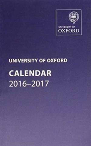 University of Oxford Calendar  2016-2017