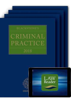 Blackstone's Criminal Practice 2018 (Book, All Supplements and Digital Pack)