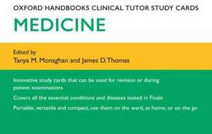 Oxford Handbooks Clinical Tutor Study Cards: Medicine