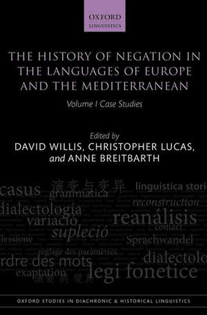 The History of Negation in the Languages of Europe and the Mediterranean, Volume 1
