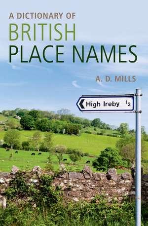 A Dictionary of British Place-Names imagine
