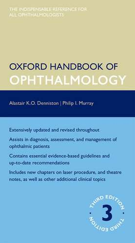 Oxford Handbook of Ophthalmology de Alastair Denniston