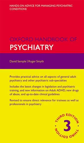 Oxford Handbook of Psychiatry de David Semple