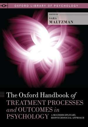 The Oxford Handbook of Treatment Processes and Outcomes in Psychology: A Multidisciplinary, Biopsychosocial Approach de Sara Maltzman