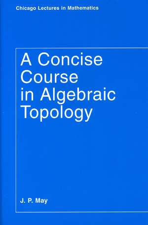 A Concise Course in Algebraic Topology imagine