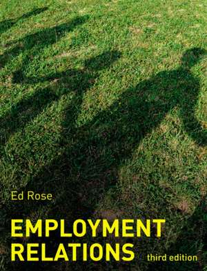 Employment Relations de Ed Rose