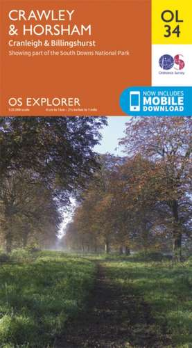Crawley & Horsham - Cranleigh & Billingshurst 1 : 25 000 de Ordnance Survey