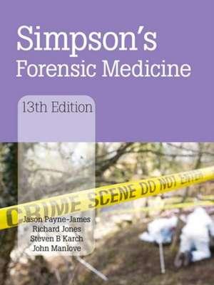 Simpson's Forensic Medicine de Jason Payne-James