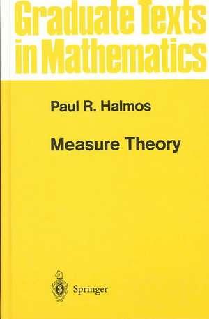 Measure Theory de Paul R. Halmos