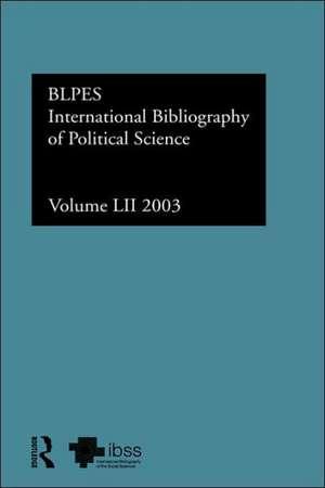 Ibss:  2003 Vol.52 de British Library