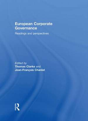 European Corporate Governance de Thomas Clarke
