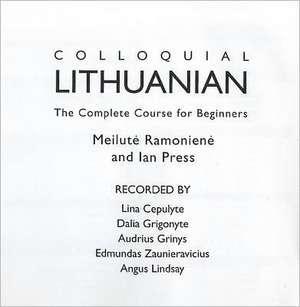 Colloquial Lithuanian