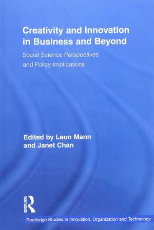 Creativity and Innovation in Business and Beyond de Leon Mann