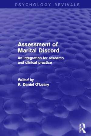 Assessment of Marital Discord (Psychology Revivals)