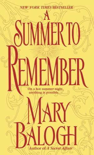 A Summer to Remember de Mary Balogh