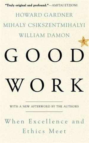 Good Work: When Excellence and Ethics Meet de Howard E. Gardner