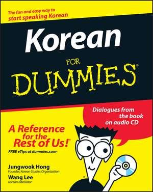 Korean For Dummies de Jungwook Hong