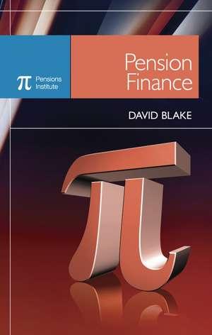 Pension Finance de David Blake