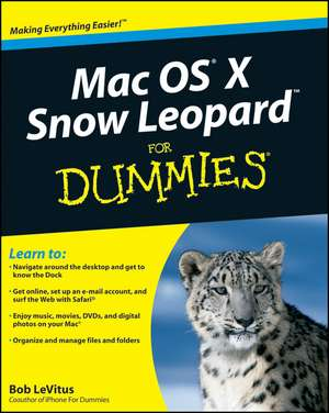 Mac OS X Snow Leopard For Dummies de Bob LeVitus