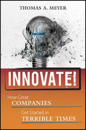 Innovate!: How Great Companies Get Started in Terrible Times de Thomas A. Meyer