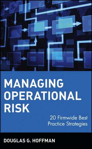 Managing Operational Risk: 20 Firmwide Best Practice Strategies de Douglas G. Hoffman