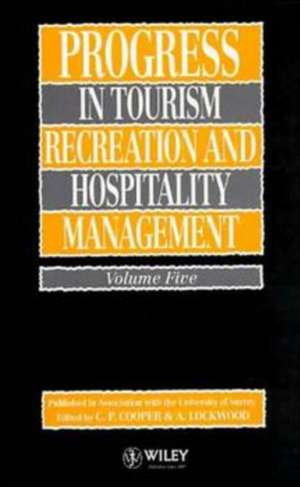 Progress In Tourism  Recreation And Hospitality Ma
