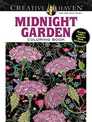 Creative Haven Midnight Garden Coloring Book