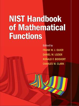NIST Handbook of Mathematical Functions Paperback and CD-ROM imagine