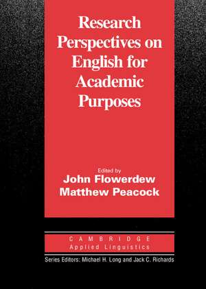 Research Perspectives on English for Academic Purposes de John Flowerdew