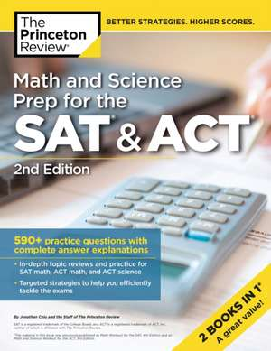 Math and Science Prep for the SAT and ACT de Review Princeton