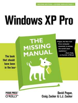 Windows XP Pro: The Missing Manual 2e de David Pogue