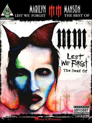 Marilyn Manson - Lest We Forget:  The Best of de  Marilyn Manson