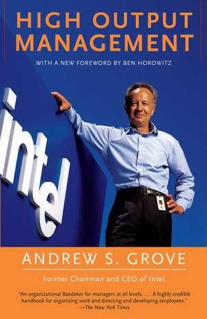 High Output Management de Andrew S. Grove