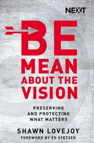 Be Mean About the Vision: Preserving and Protecting What Matters de Shawn Lovejoy
