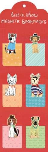 Semne de carte magnetice Best in Show (câini) de Galison
