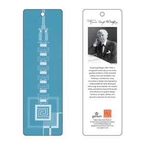 Semn de carte Frank Lloyd Wright Taliesin West Gate (albastru) de Galison