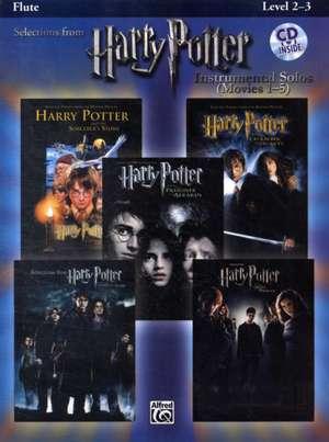 Harry Potter Instrumental Solos (Movies 1-5): Flute, Book & CD [With CD] de Bill Galliford